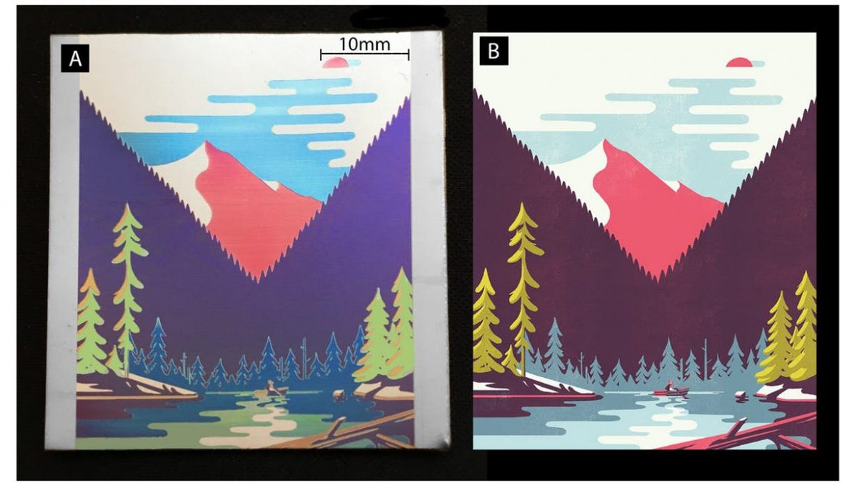 Single-laser tech prints color graphics on metal