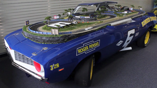 Coolest Slot Car Racing Track Sits On Top Of A Real 1969 Camaro