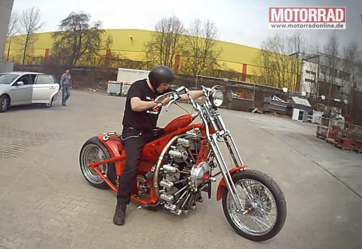 Yep, this is a motorcycle with a plane engine – EEJournal